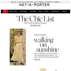 [NET-A-PORTER] The happiest hues to wear now