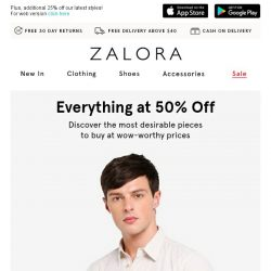 [Zalora] For You & Dad: 50% Off Everything!