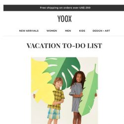 [Yoox] Kids: Ready for vacation?