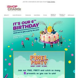 [iShopChangi] 🔥Our 6th Birthday Party Is Heating Up🔥