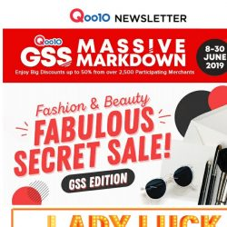 [Qoo10] Up To 50% Off Your Fashion And Beauty Needs At The GSS Massive Markdown!