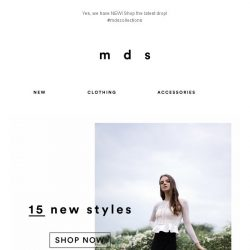 [MDS] Your new wardrobe is calling! 