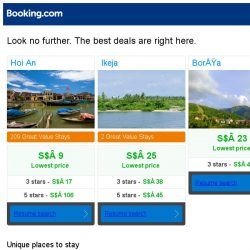 [Booking.com] Hoi An, Ikeja and Borşa -- great last-minute deals as low as S$ 9!