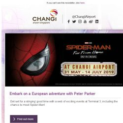 [Changi Airport] , say hello to your friendly neighbourhood Spider-Man!