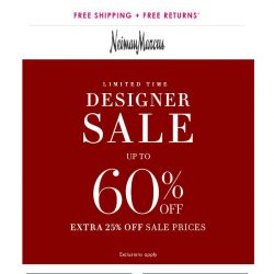 [Neiman Marcus] Up to 60% off! Kick off summer in style