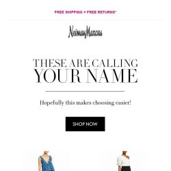 [Neiman Marcus] Did you see this?