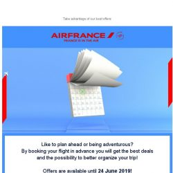 [AIRFRANCE] Book earlier and pay less!