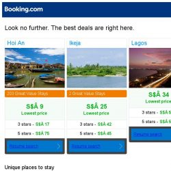 [Booking.com] Hoi An, Ikeja, or Lagos? Get great deals, wherever you want to go