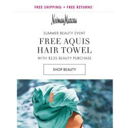 [Neiman Marcus] Your gift: Free Aquis hair towel with beauty purchase