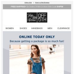 [Saks OFF 5th] Up to 80% off with code THURSDAY