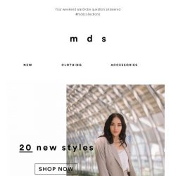 [MDS] Get your carts ready for our New styles!