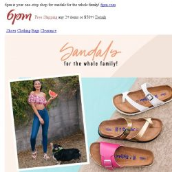[6pm] Up to 75% off sandals! YAY!