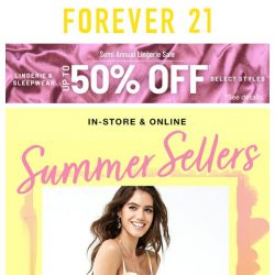[FOREVER 21] 100's of Our Summer Best Sellers Are Here!