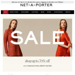 [NET-A-PORTER] 100+ new items at up to 70% off