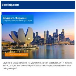 [Booking.com] Deals in Singapore from S$ 26