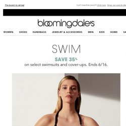 [Bloomingdales] Save 35% on swimsuits & cover-ups