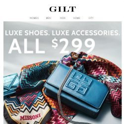[Gilt] $299 Luxe ✨ 24 Hours Only ✨