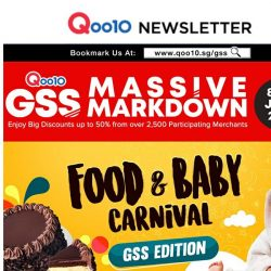 [Qoo10] GSS Food & Baby Carnival is Happening Right Now With Over 100 Deals For You To Choose From!