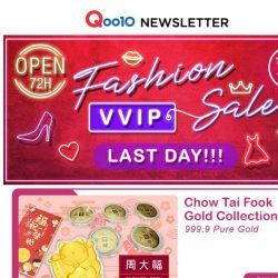 [Qoo10] Last Day Of Fashion VVIP Sale! Shop Now Or Cry Later!
