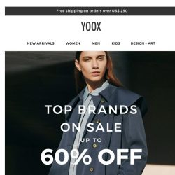 [Yoox] Top Brands on SALE: Up to 60% OFF