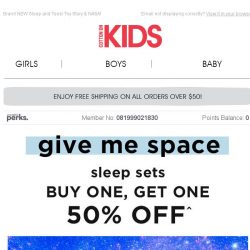 [Cotton On] Buy One, Get One 50% Off PJ Sets! NASA just landed! 