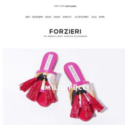 [Forzieri] What's new: Pucci, Kenzo, and Sophia Webster