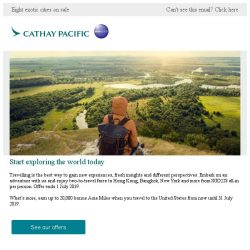 [Cathay Pacific Airways] Special fares from SGD228 all-in