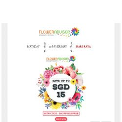 [Floweradvisor] Get Gift With Extra SGD 15 OFF!