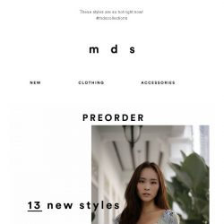 [MDS] You're seeing this first | Our new collection!