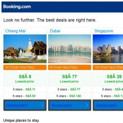 [Booking.com] Chiang Mai, Dubai, or Singapore? Get great deals, wherever you want to go