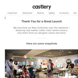[Castlery] Thank You for a Great Launch!