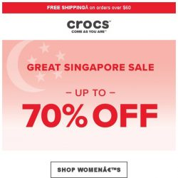 [Crocs Singapore] 【70% OFF】 GSS Starts Today! Shop NOW!
