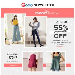 [Qoo10] Tokichoi 55% Off Storewide! Grab your outfits for every occasion! 