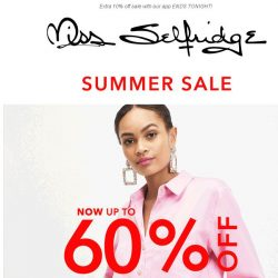 [Miss Selfridge] Sale, now up to 60% off ☑️