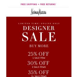[Neiman Marcus] Ends soon! Up to 35% off Designer Sale