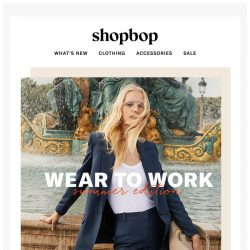 [Shopbop] Work wardrobe: keep your cool (& look profesh)