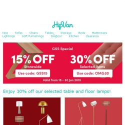 [HipVan] Lit up your room with our GSS Sale! 