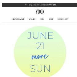 [Yoox] ☀️ Hello Summer! 21% OFF on new arrivals