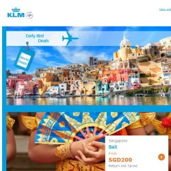[KLM] Don't miss our Early Bird Deals! Limited seats left!