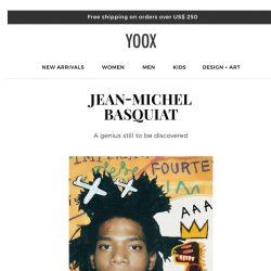 [Yoox] DESIGN+ART: Jean-Michel Basquiat, the Pop icon's life told through a collection of unique objects