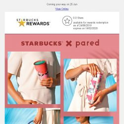 [Starbucks] Get in the mood for Starbucks x Pared