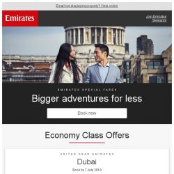 [Emirates] Bigger adventures for less. Fly from just $649 return*