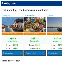 [Booking.com] Malacca, Seremban, or Lumut? Get great deals, wherever you want to go