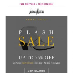 [Neiman Marcus] Flash Sale! 75% off sunny-day styles