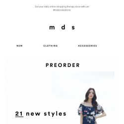 [MDS] You know the drill - new styles launched! 