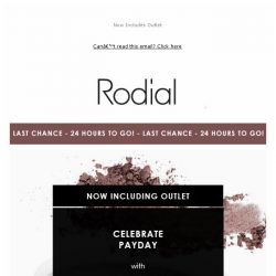 [RODIAL] LAST CHANCE: Celebrate Payday - 25% Off 
