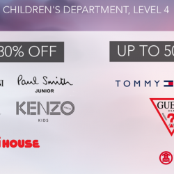 Takashimaya: Childrenswear End of Season Sale with Up to 50% OFF Emporio Armani Junior, Kenzo Kids, Tommy Hilfiger & More!