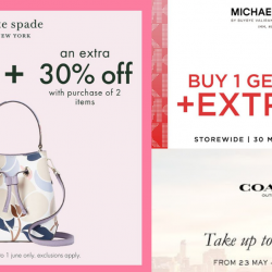 IMM Outlet Mall: Great Singapore Sale with Up to 70% OFF at Coach, Kate Spade & Michael Kors!