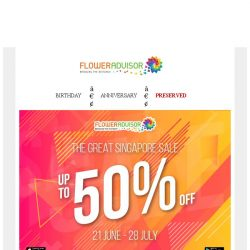 [Floweradvisor] Chance It's Never Come Back! Don't Miss Up To 50% OFF Sale!