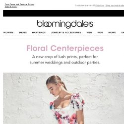 [Bloomingdales] Floral dresses for the summer party circuit